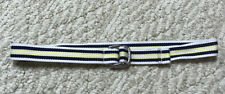Janie and Jack Boys Yellow/White/Navy Blue Belt Size 6-8 (New Without Tags)