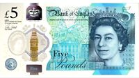 BRAND NEW AA28 Serial £5 NOTE AND LEAFLETS  Polymer Five Pound B-O-E Note Rare