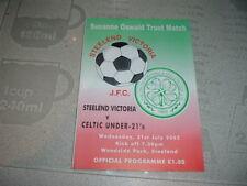 Steelend Victoria v Celtic Under 21 July 2001 Oswald trust match