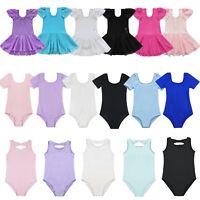 Toddler Girls Gymnastic Leotard Dress Ballet Dance Skate Skirt Dancewear Costume