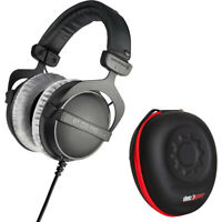 BeyerDynamic DT 770 PRO Studio Headphones with Deco Gear Hardbody Case Bundle