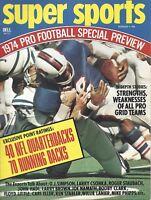 1974 Super Sports magazine, Football Buffalo Bills Baltimore Colts EX