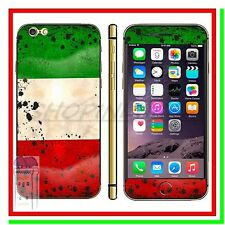 Stickers Back Front Cover Adesiva Fronte Retro Bandiera Italia  x Iphone 6 Plus