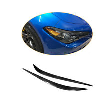 2PCS Headlight Eyelid Eyebrows Cover For Alfa Romeo Giulia 15-18 Carbon Fiber