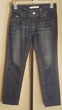 Uniqlo Womens Pants Size 24 Boyfriend Distressed UJ Washed Straight Legged Jeans