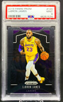 LeBron James 2019 Panini Prizm #129  LA Lakers PSA 9 Mint