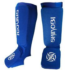Shinobi Shin And Instep Guards Adults - Blue Muay Thai Kick Boxing Guards
