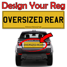 NUMBER PLATE 21 X 6 REAR RANGE ROVER BENTLEY SPORT EVOQUE OVERSIZE ROAD LEGAL