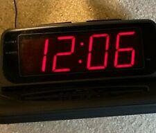 Large LED Display Alarm Clock Radio Lenoxx Sound Model CR-773 Digital Dual AM/FM