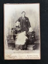 Victorian Cabinet Card: Sharp: Hamilton Strathaven: Family Christening Gown