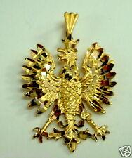 Brand New 14K Yellow Gold Polish Eagle Symbols Charm Pendant