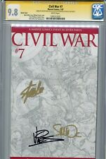 Civil War 2006 7 CGC 9.8 SS X3 Turner sketch Stan Lee Iron Man Avengers Thor WP