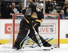 Vancouver Canucks Jacob Markstrom Signed Autographed 8x10 NHL Photo COA H