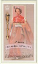 TURKS AND CAICOS -2001 75th BIRTHDAY QUEEN ELIZABETH-MINIATURE SHEET