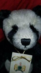 "Karl Gibbons artist panda bear ""Jowett"" teddy bear 13"" mohair LE #2/200"