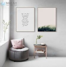 Modern Forest Green Trees Poster Print Nordic Home Deco Art Canvas Painting