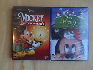 MICKEY IL ETAIT UNE FOIS NOËL - Lot de 2 DVD Disney Neufs Sous Blister