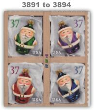 3891-94 3894 3894a Holiday 2004 Ornaments 37c Block 4 From ATM Pane MNH -Buy Now