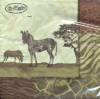 Servietten 20, Serviettentechnik Zebra Collage, Afrika, ti flair, 33 x 33