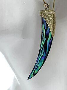Rarities Carol Brodie Abalone Dagger Vermeil Sterling Silver Earrings