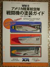 Ww2 Usaaf Fighters Camouflage, Markings In Europe Model Art #713 Japan