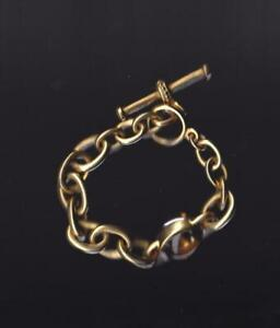 "Vintage Vahe Naltchayan 18k Yellow Gold Citrine Bracelet 8"""