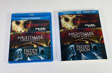 Triple Feature Blu-Ray Friday the 13th Elm Street Freddy Vs. Jason Guaranteed