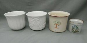 Job Lot of 4 Ceramic Plant Pots