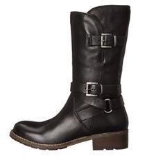 Clarks Ladies Bikers Mid Calf Boots VOLARA MELODY Black Leather UK 4 / 37