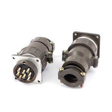 H● 2* P32K-8 Waterproof Aviation Metal Connector Adapter 8Pin Core 4 x4 x9.7cm.