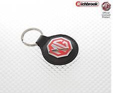 Richbrook MG Official Licensed Car Home Keys Black Leather Key Ring