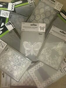 "Darice Embossing Folders 4.25"" x 5.75"" **VARIOUS DESIGNS** $4.50 EACH** Set #2"