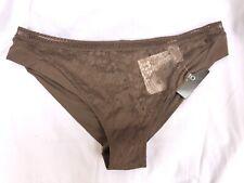 La Perla Gossip Girl Womens Sz M Lace Bikini Panty Brown New