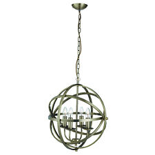 Orbit Antique Brass 4 Light Spherical Ceiling Pendant Light Fitting Home Lights