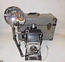 Graflex Crown Graphic 4x5 Film Press Camera OUTFIT-Lens, Flash, Film Holders