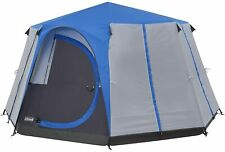 Coleman Octagon Cortes 6-8 Man Waterproof Tent for Camping/Festivals: Blue
