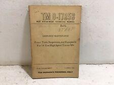 TM 9-1785B.High speed Tractor M4. Power train, Suspension, & Equipment. 1944