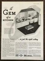 1937 Monel Metal Kitchen Fixtures Ad Whitehead Metal International Nickel Co