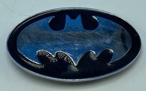 Batman Belt Buckle black and silver TM & DC Comics Warner Brothers