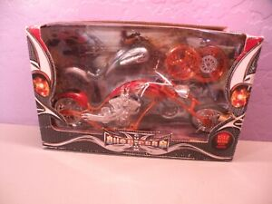NEWRAY CUSTOM CHOPPERS 1:12 DIECAST COLLECTIBLE MOTORCYCLE New Damaged Box