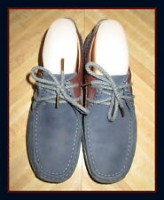 Cute Women ECCO Wallabees Blue/ Brown Oxford Flat shoes Size US 8.5- EURO 40