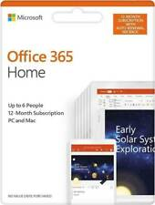 Microsoft Office 365 HOME FAMILY 1 Year Subscription of Latest MS OFFICE 6 USERS