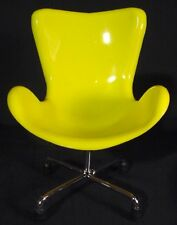 Miniature Sampler Egg Swan Chair Retro Mid Century Decor Yellow