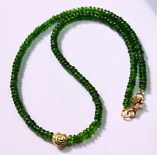 Russian Chrome 93 Carat Gemstone Necklace Chrome Diopside Chain Top