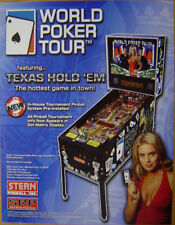 World Poker Tour Pinball Flyer Mint / Original Brochure