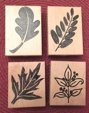 4 Stamps Fall Leaves Leaf Mounted Rubber Unbranded # 33, 34, 49, 74 New