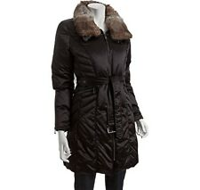 Andrew Marc Black Poly Rabbit Fur Collar Quilted Down Coat Size XL NWT $598
