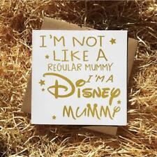 Gold Foil, Disney Mummy,Birthday Card/Mother's Day