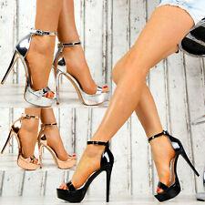 Neu Damen Schuhe Party Sandalen Lack High Heels Stilettos SeXy Peeptoes Club M39