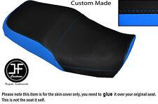 BLACK L BLUE VINYL CUSTOM FITS KAWASAKI ZRX 1200 R 01-05 1100 R 97-05 SEAT COVER